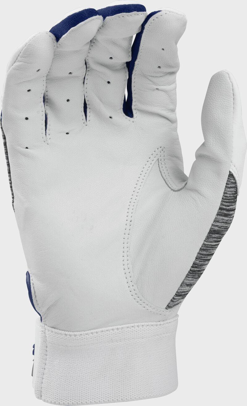 White palm of a 5150WGB-N Rawlings youth 5150 batting glove