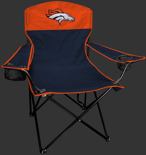 Front of Rawlings Orange and Navy NFL Denver Broncos Lineman Chair With Team Logo SKU #31021066111