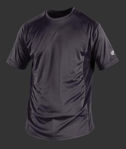 Front of Rawlings Gray Youth Short Sleeve Shirt - SKU #YSBASE
