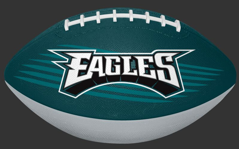 Midnight Green and Grey NFL Philadelphia Eagles Downfield Youth Football With Team Name SKU #07731080121