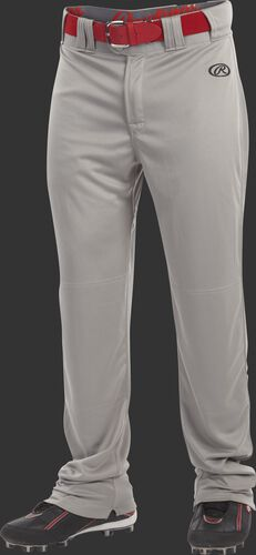 Front of Rawlings Blue Gray Adult Launch Semi-Relaxed Pant - SKU #LNCHSR