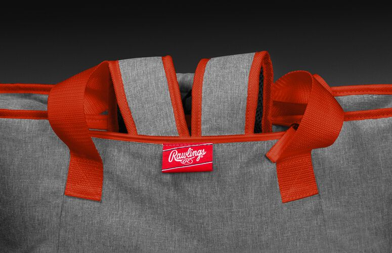 Backpack straps in the stowaway compartment of a Cleveland Browns 30 can cooler - SKU: 10311064111