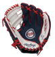 A navy, white & red Rawlings Minnesota Twins youth glove with a Twins logo stamped in the palm - SKU: 22000028111 image number null