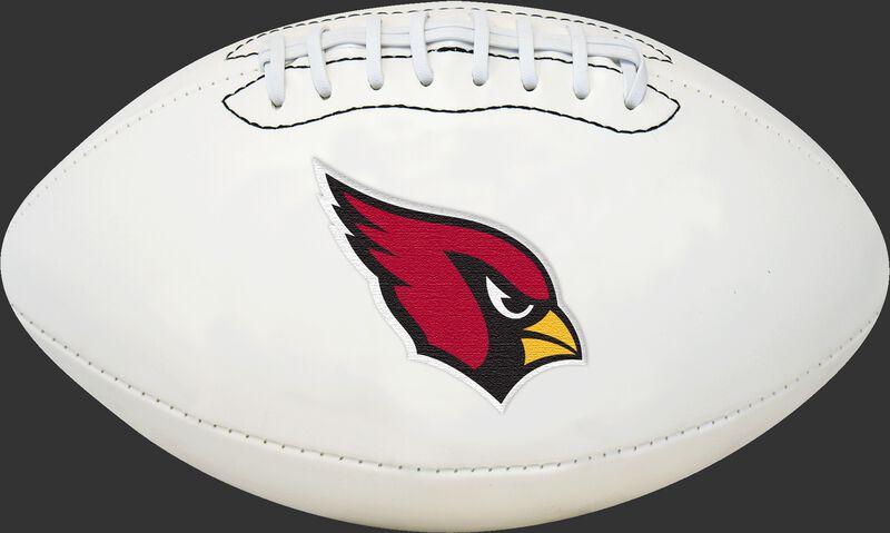 White NFL Arizona Cardinals Football With Team Logo SKU #06541081811