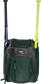 Front of a dark green Rawlings Franchise baseball backpack with two bats in the side sleeves - SKU: FRANBP-DG image number null