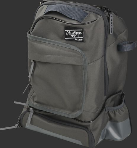 Left angle of a gray R701 universal training backpack