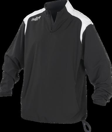 Youth Long Sleeve Quarter-Zip Jacket Black