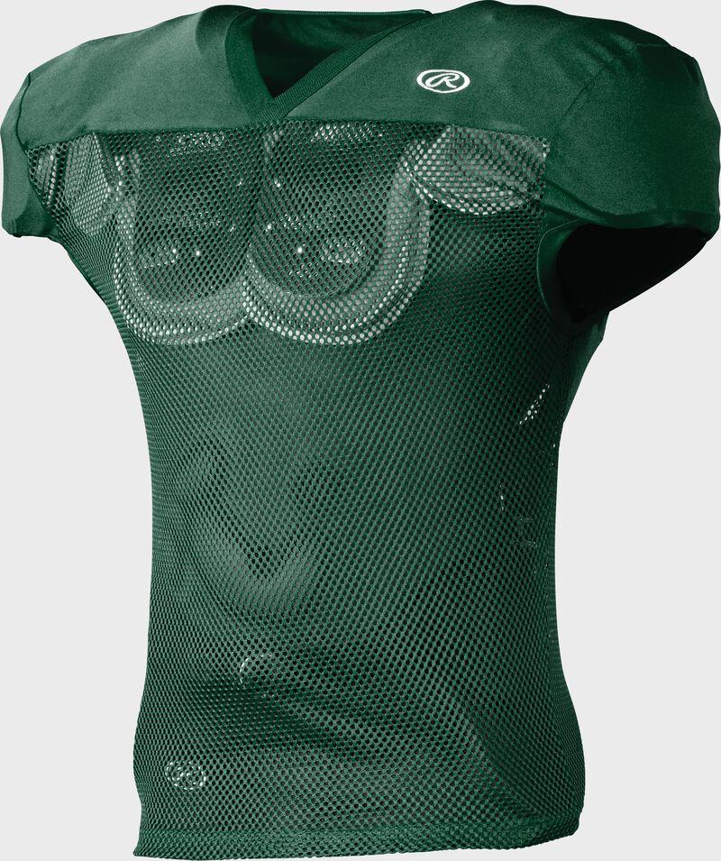 Front of Rawlings Dark Green Adult Practice Football Jersey  - SKU #FJPR1