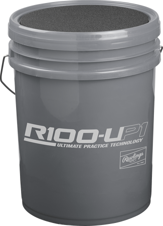 R100UP1BUCK24 Grey bucket for Ultimate Practice high school baseballs