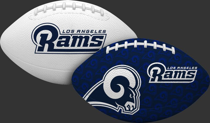 A NFL Los Angeles Rams gridiron football with one navy and one white side with team logos - SKU: 07081073124