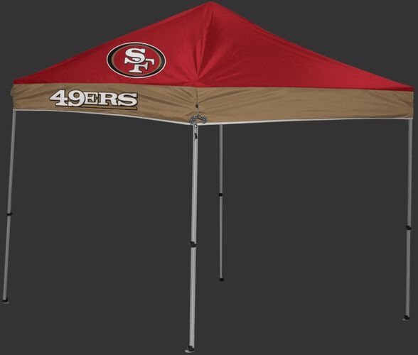 Rawlings Scarlet and Gold NFL San Francisco 49ers 9x9 Canopy Shelter With Team Logo and Name SKU #03231084111