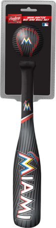 MLB Miami Marlins Slugger Softee Mini Bat and Ball Set