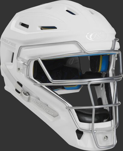 Rawlings Mach Catcher's Helmet | Senior White