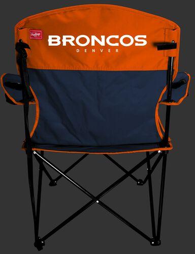 Back Of Rawlings Orange and Navy NFL Denver Broncos Lineman Chair With Team Name SKU #31021066111