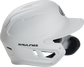 Right side of a MACHEXTR junior Rawlings batting helmet with a one-tone matte white shell image number null