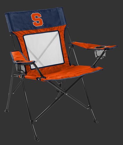 Front of Rawlings Orange and Blue NCAA Syracuse Orange Game Changer Chair With Team Logo SKU #00643060111