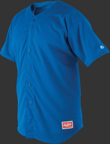 Front of Rawlings Royal Adult Short Sleeve Jersey  - SKU #RBJ167
