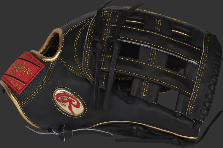 Thumb of a black Gameday 57 Series Ender Inciarte Heart of the Hide glove with a black H-web - SKU: RSGPRO3039-EI11