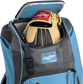 A Rawlings baseball glove in the top compartment of a Franchise baseball backpack - SKU: FRANBP-CB image number null