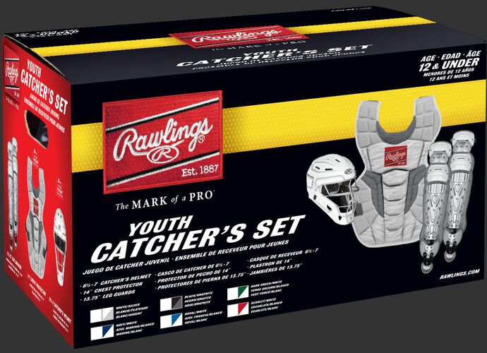 CSV2A Youth Rawlings Velo 2.0 Catcher's Gear set box