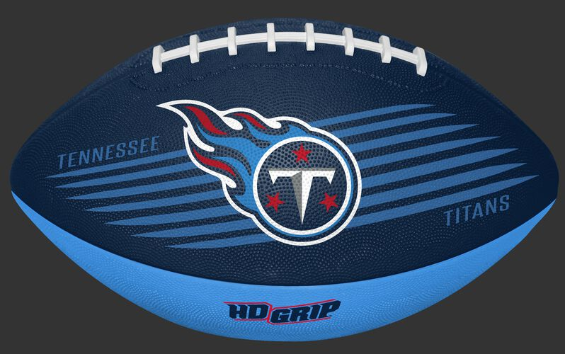 Navy and Blue NFL Tennessee Titans Downfield Youth Football With Team Logo SKU #07731069121