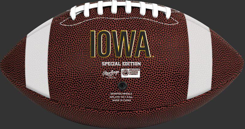 Brown NCAA Iowa Hawkeyes Football With Team Name SKU #04623075811