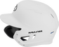 Left side of a MACHEXTL junior Rawlings batting helmet with a one-tone matte white shell image number null