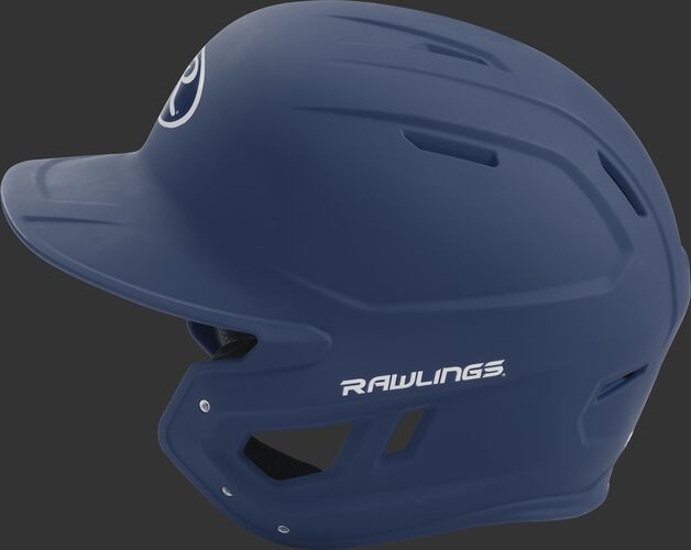 MACH junior Rawlings batting helmet with a one-tone matte navy shell