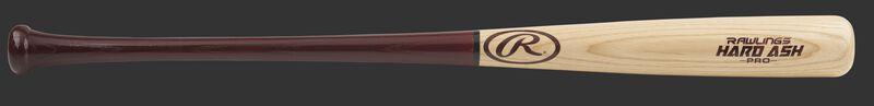 C271HA Hard ash wood bat with a natural wood barrel and red handle