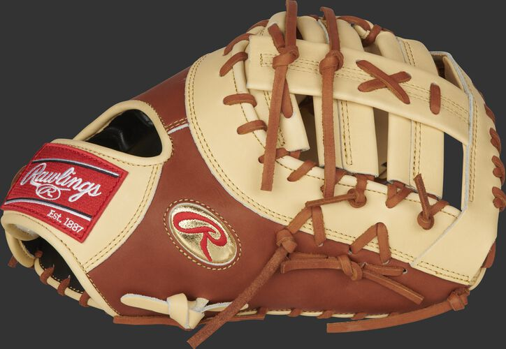 Thumb of a Gameday 57 Series Matt Olson Pro Preferred 1st base mitt with a gold Oval-R - SKU: PROSDCTMO28