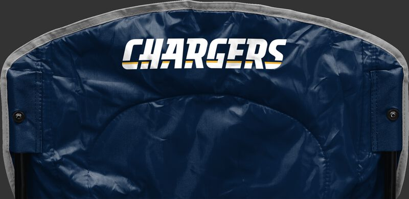 Back of Rawlings Navy Blue NFL San Diego Chargers Chair With Team Name SKU #02771083111