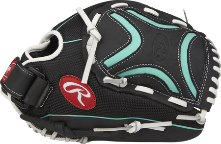 Thumb view of a black CL120BMT Champion Lite 12-inch outfield glove with a black/mint Decorative X web