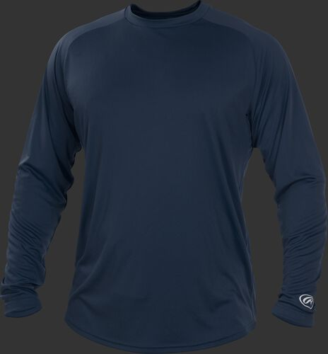 Navy LSRT Adult crew neck long sleeve shirt