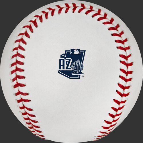 The Arizona Spring Training logo on a 2020 Spring Training commemorative baseball - SKU: ROMLBSTAZ20