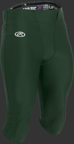 Adult Football Pants with Knee Pads Dark Green