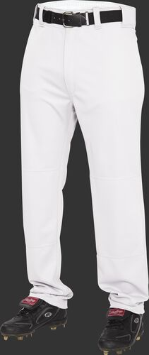 Front of Rawlings White Youth Semi-Relaxed Pant - SKU #YP31SR