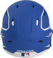 Back of a MACHEXTR high performance junior MACH helmet with a matte royal/white shell and Official Batting Helmet of MLB logo image number null