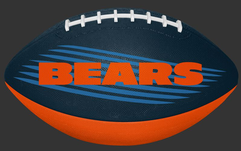 Navy and Orange NFL Chicago Bears Downfield Youth Football With Team Name SKU #07731062121