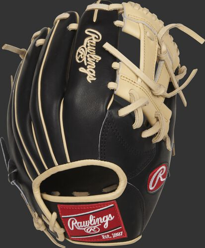 PROR882-7BC 11.25-inch Rawlings Heart of the Hide R2G infield glove with a black back