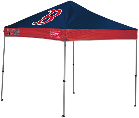 MLB Boston Red Sox 9x9 canopy shelter with a large printed team logo and team name one the sides