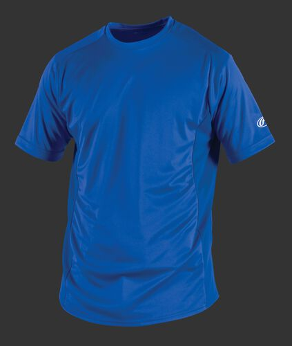 Front of Rawlings Royal Youth Short Sleeve Shirt - SKU #YSBASE