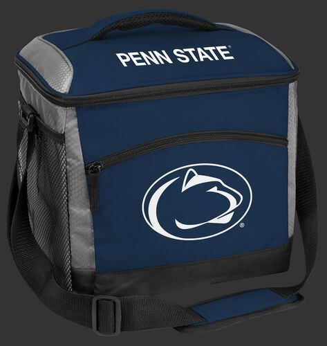 A blue Penn State Nittany Lions 24 can soft sided cooler with screen printed team logos - SKU: 10223050111