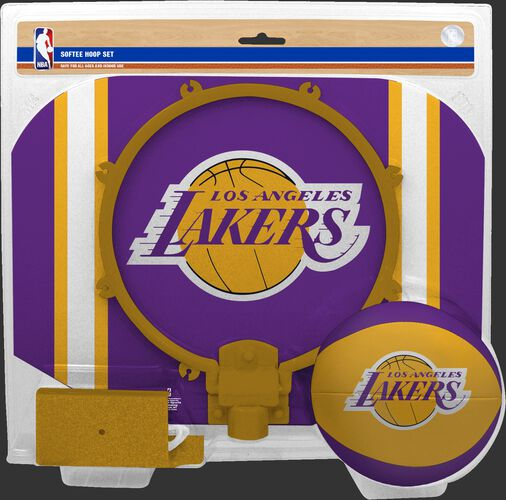 Rawlings Purple and Yellow NBA Los Angeles Lakers Softee Hoop Set With Team Logo SKU #03544220114