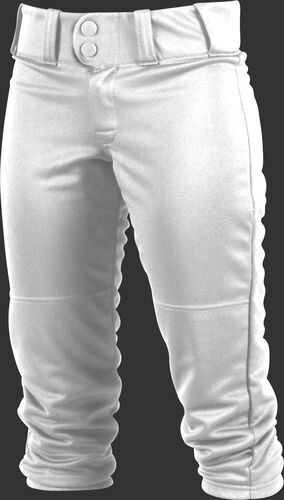 Front of Rawlings White Adult Women's Low-Rise Softball Pant - SKU #WRB150