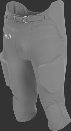 Front of Rawlings Stone Gray Adult Lightweight Football Pants - SKU #FPL