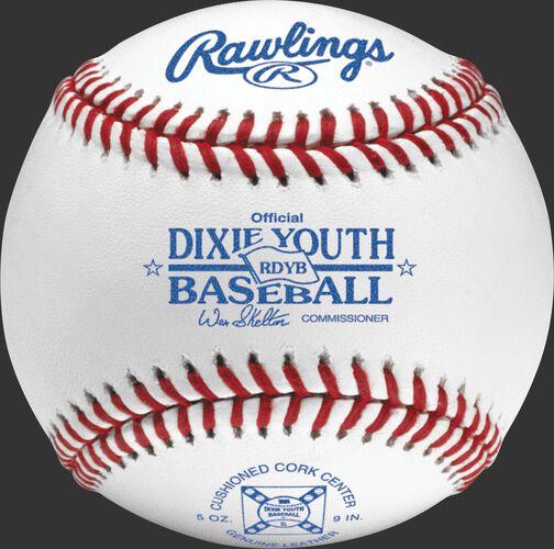 RDYB Dixie youth tournament grade baseball with raised seams
