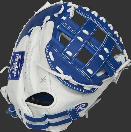 RLACM33FPR 33-inch Liberty Advanced catcher's mitt with a white back and adjustable pull strap