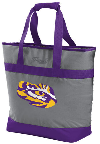 Rawlings LSU Tigers 30 Can Tote Cooler In Team Colors With Team Logo On Front SKU #07883035111