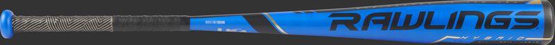 US9V5 Rawlings -5 Velo USA bat with a blue barrel and black/gold batting grip