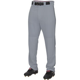 Adult Semi-Relaxed Piped Baseball Pant Blue Gray/Black